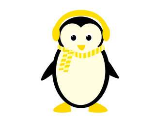 cute penguin vith scarf