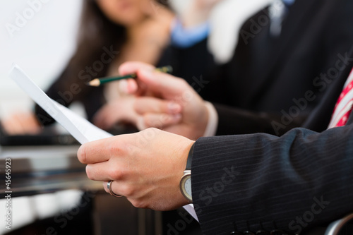 Business people during meeting in office