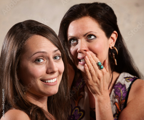 Two Attractive Ladies Gossipping
