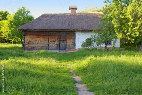 Traditional ukrainian rural house