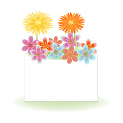 Flowers card decorative background