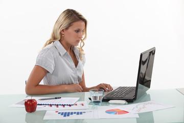 Woman working in marketing