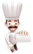Chef business cards a present. 3D Chef Character