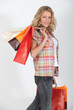 Studio shot of a female shopper