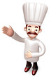 Body language to welcome Chef. 3D Chef Character