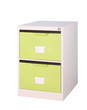 Colorful bright green cupboard great for storage and keep stuffs