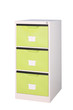 Bright green cabinet for modern style factory shop or office iso