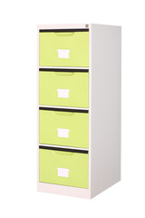 Bright green cabinet for modern style factory shop or office