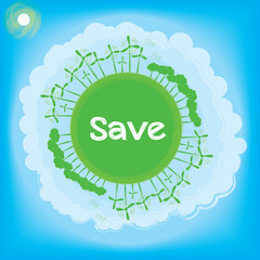 Save Think Green Ecology Concept