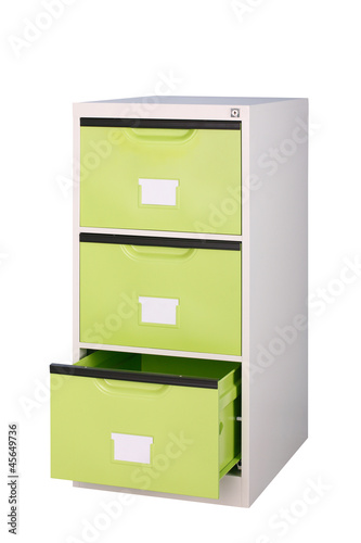 the bright green cabinet to suit your new office