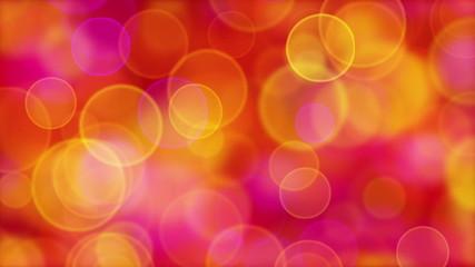 red orange pink yellow circle bokeh lights loop