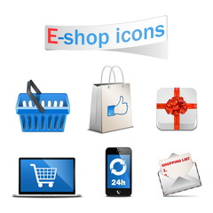 Vector E-shop icons