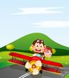 monkey and aeroplane