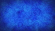 blue curles ornatment loop background