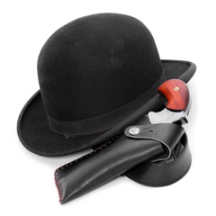 Detective and spy accessories. Security concept.