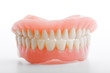 medical denture jaws smile white teeth on white background