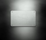 Silver template business card background