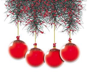 Natale addobbi rossi a puntini