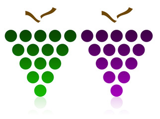 Logo en forme de raisins