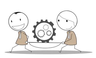 progress gear businessman teamwork