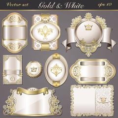vintage labels white