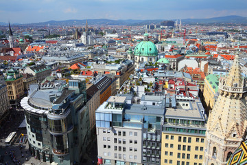 Vienna aerial view of the Old Town