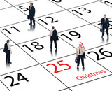 Corporate business calendar for december and christmas