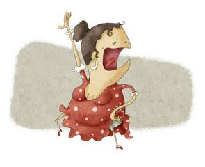 funny flamenco dancing