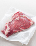 raw steak on white paper