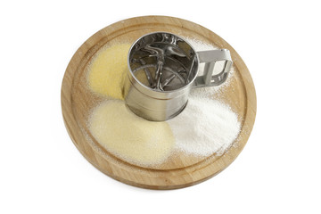 Sifter-flour with different kinds od flour`s