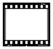 Blank vector film strip border