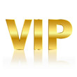 Golden vip sign