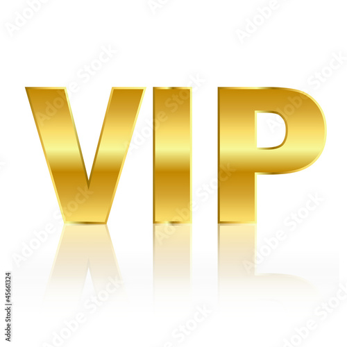 Golden vip sign