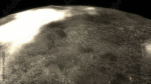 cg animation moon flyover.