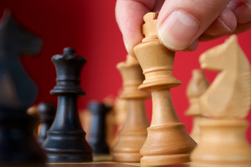Moving the King in a game of chess