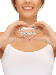 smiling woman with big diamond