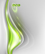 Abstract gray background with green element