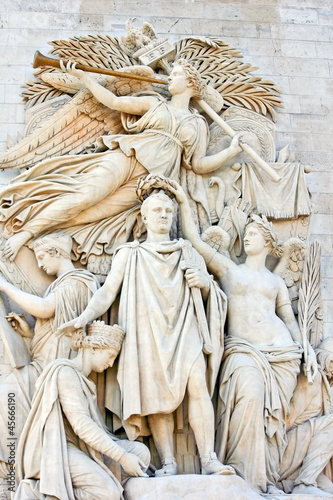 Poster Der Triumph Napoleons 1810 ( Detail  Arc de Triomphe )