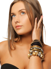 beautiful woman with bracelets