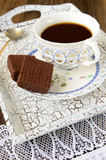Чаепитие с шоколадными вафлями