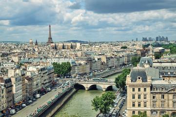 View of Paris form the Notre Dame.