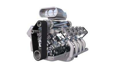 v8 kompressor motor