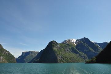 Zusammenschluss Naeroyfjord und Aurlandsfjord, Norwegen