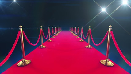 Red Carpet Event. Looped animation of a walk down