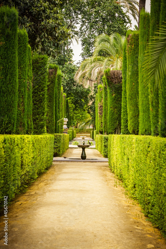 Garden of the Poets in Alcazar, Sevilla