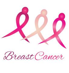 Breast cancer logo awareness ribbons symbol vector
