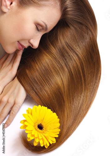 beautiful woman's hair
