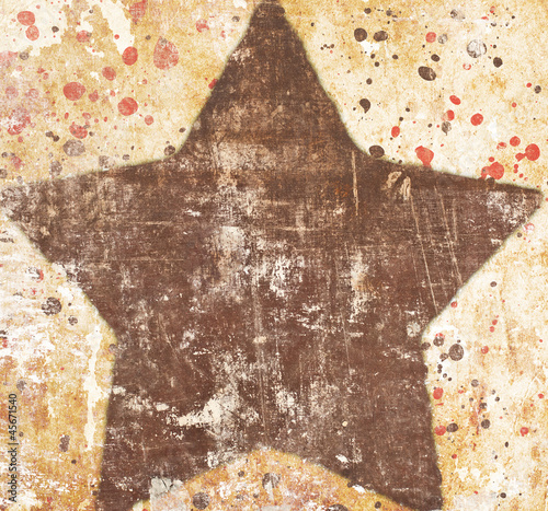 Star on grunge background