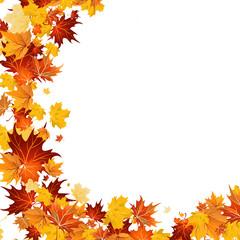 Herbst: Halbkreis mit Blättern