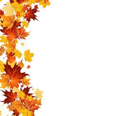 Herbst: eine Seite mit Blättern